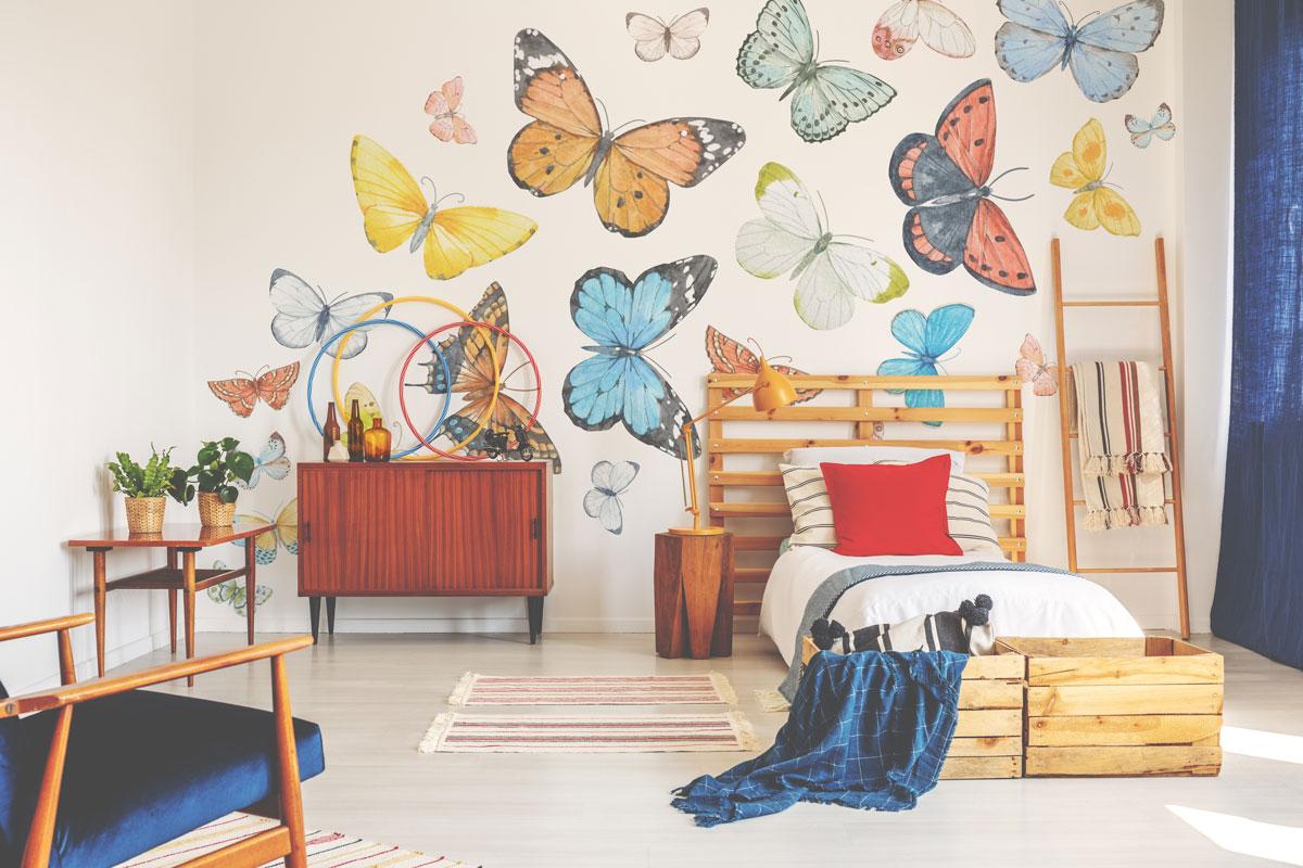 Fototapeta premium pastelowe motyle