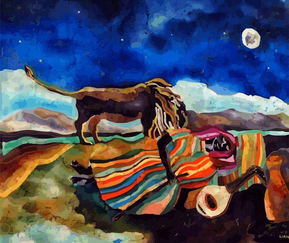Fototapeta premium Sleeping Gypsy Śpiąca Cyganka