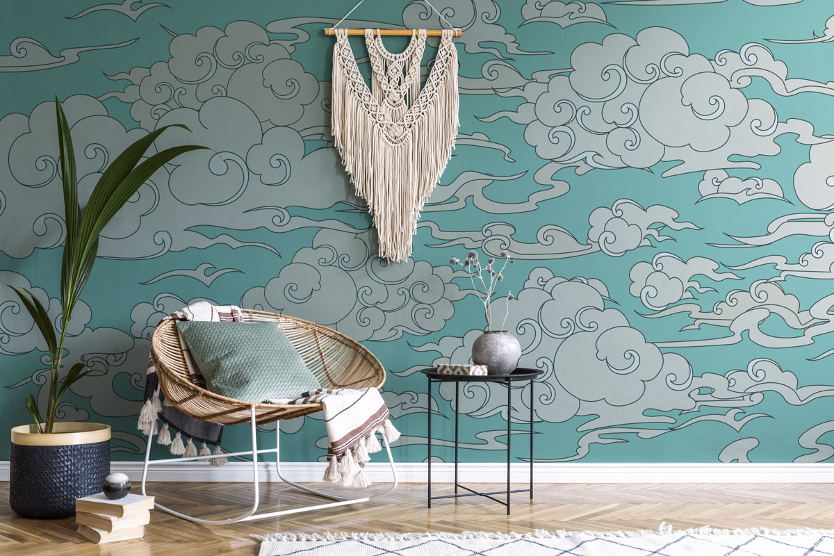 Abstrakcyjne chmurki do salonu